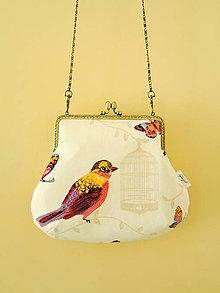 Kabelky - Kabelka s vtáčikom - 8433925_