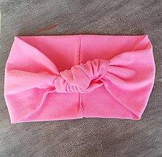 Ozdoby do vlasov - Uzlíková čelenka ružová - 8434170_