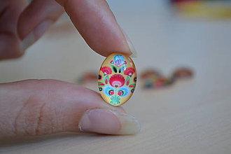 Komponenty - Kabošon sklenený folk žltý 13x18mm, 0.60€/ks - 8434735_