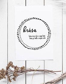 Grafika - Plagát / obraz KRÁSA - 8434584_