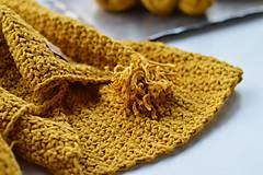 Textil - Detská deka BAVLNA: horčicová - 8439334_