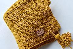 Textil - Detská deka BAVLNA: horčicová - 8439336_