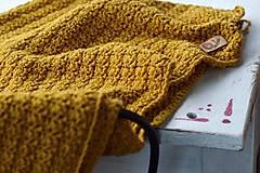 Textil - Detská deka BAVLNA: horčicová - 8439340_