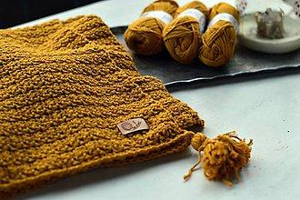 Textil - Detská deka BAVLNA: horčicová - 8439333_