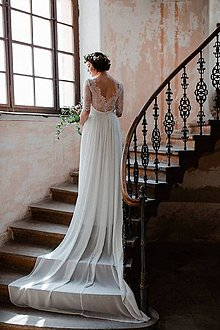 621db4af71c9 Šaty - Svadobné šaty Magdaléna  maslové - 8437761