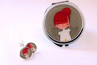 Zrkadielka - devenka AKCIA!!! zrkadlo+náušnice - 8439382_