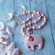 Náhrdelníky - Silikónový náhrdelník slon Hanka - 8439581_
