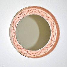 Zrkadlá - Kruhové zrkadlo Výšivka marhuľka AKCIA! - 8437253_