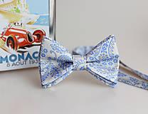 Doplnky - Pánsky elegantný motýlik zo 100% talianskeho hodvábu - 8438163_