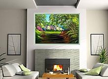 Obrazy - Rozkvitnutý les - 8439057_