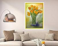 Obrazy - Oranžové tulipány - 8439242_