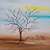 Obrazy - Svadobný strom maľovaný - 50 x 50 cm - 8437167_