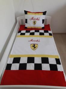 Úžitkový textil - Deka Ferrari 80x160cm,vankúš 40x50cm - 8439423_