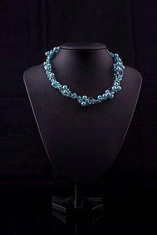 Náhrdelníky - Perličkový náhrdelník - Belasé nebo - 8438563_