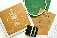 Dekorácie - VYŠIMA - súprava na vyšívanie Púchov - 8438001_