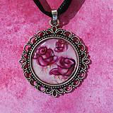 Náhrdelníky - Ružičky - náhrdelník starostříbro - vlastný motív - 8437056_