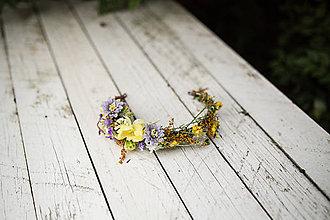 Ozdoby do vlasov - z 32 eur Kvetinový polvenček