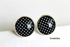 """Šperky - Manžetové gombíky """"Dots """" Black - 8439826_"""
