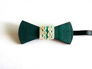 Doplnky - Drevený motýlik Turquoise VI. - 8437337_