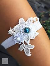 Bielizeň/Plavky - Elegantný svadobný podväzok - 8439814_