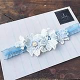 Bielizeň/Plavky - Elegantný svadobný podväzok - 8439830_