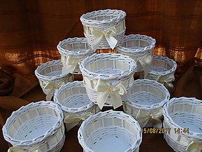 Košíky - košíčky pre svadobčanov - 8438374_