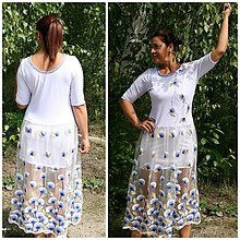 Šaty - Šaty dlouhé, ale sexy! /s kabelkou/ - 8441981_