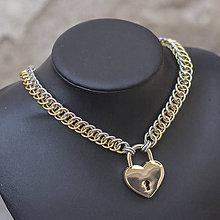 Náhrdelníky - Jsem ti napůl odevzdaná ve zlaté - náhrdelník - 8440538_