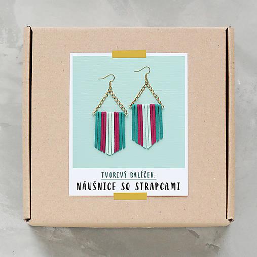 Náušnice so strapcami - tvorivý balíček s návodom