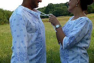 Oblečenie - Košeľa Bordúra Folk pánska - 8442246_