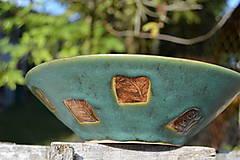 miska zelená, medienková II
