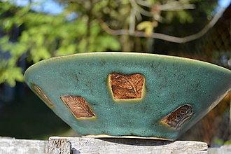 Nádoby - miska zelená, medienková II - 8440388_