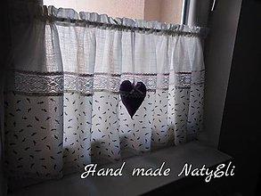 Úžitkový textil - Záclonka levanduľová.... - 8440046_