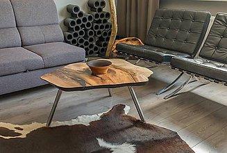 Nábytok - konferenčný stolík z masívu orech - 8441343_