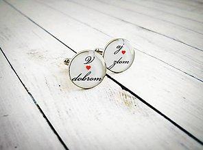 Šperky - Svadobné manžetové gombíky - 8442550_