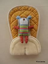 Textil - Bugaboo Seat Liner YELLOW /BUGABOO Podložka do kočíka ŽLTÁ Elegant prešitie na mieru - 8440426_