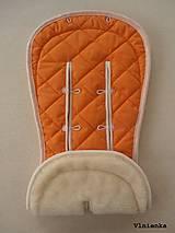 Textil - Bugaboo Seat Liner ORANGE / Podložka do kočíka Pomarančová Elegant prešitie na mieru - 8440465_