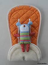 Textil - Bugaboo Seat Liner ORANGE / Podložka do kočíka Pomarančová Elegant prešitie na mieru - 8440467_