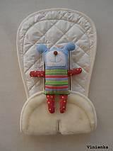 Textil - Bugaboo Seat Liner Off White/ Podložka do kočíka smotanová Elegant prešitie na mieru - 8440746_