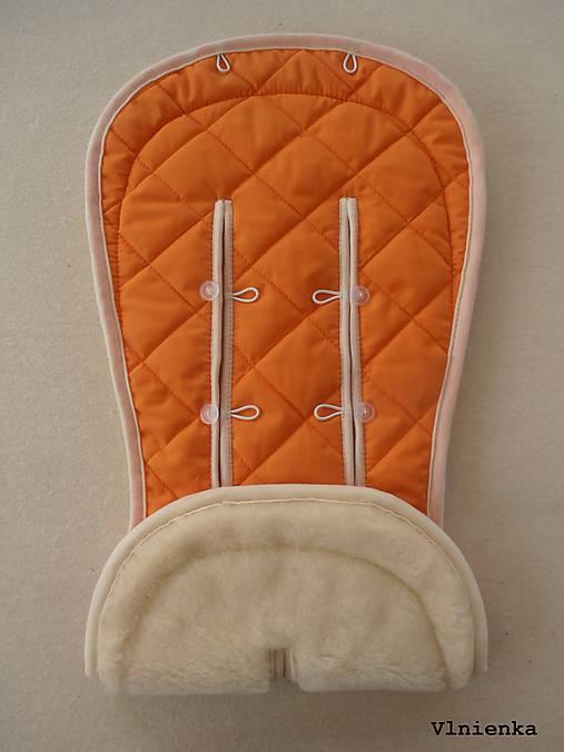 Bugaboo Seat Liner ORANGE / Podložka do kočíka Pomarančová Elegant prešitie na mieru