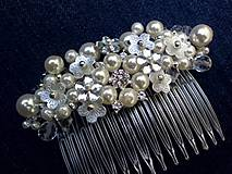 - perlový hrebienok Ivory - 8440798_