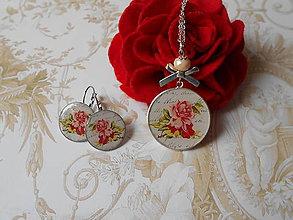 Sady šperkov - Ruže v liste ukryté - 8441152_
