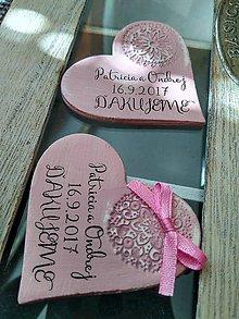 Darčeky pre svadobčanov - pudrové maľované magnetky - 8441333_