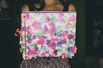 Papiernictvo - Fotoalbum klasický, papierový lesklý obal s potlačou (vecička dočasne nedostupná) - 8440249_