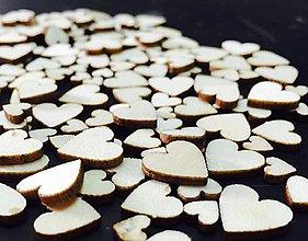 Polotovary - VY120 Drevený výrez srdiečko 0,6-1,2 cm - 8441600_