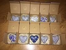 Drobnosti - Handmade magnetky FOLK srdiecko v krabicke - 8440017_