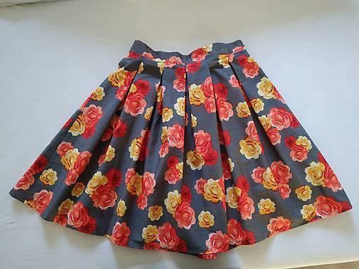Kvetinová farebná sukňa   Elfrida - SAShE.sk - Handmade Sukne 58706140ec8