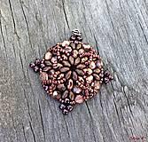Náhrdelníky - Maslovo-ružový filigránový prívesok - 8442393_