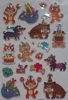 Papier - Samolepky psy a mačky - 8443023_