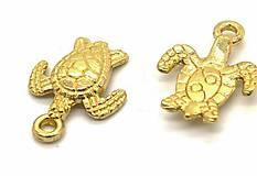 Prívesok zlatá korytnačka